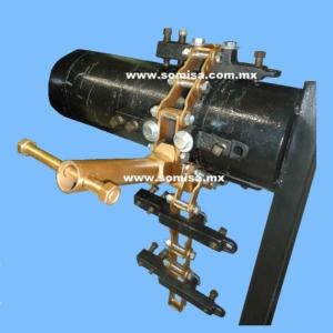 Alineador de tubo tipo cadena