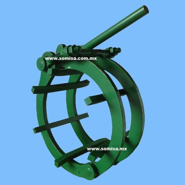 Alineador de tubo tipo canasta