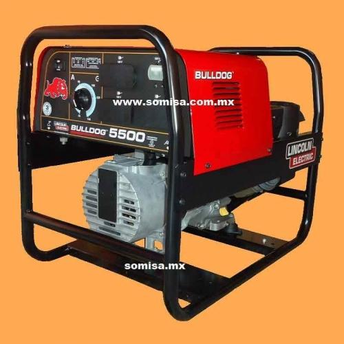 Soldadora de motor a gasolina: Bulldog 5500, 140 amp.